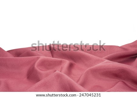 red clothes on white background. - stock photo