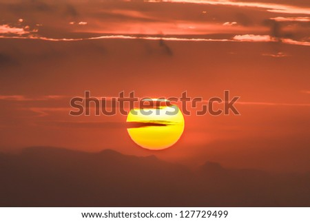 red cloud - stock photo