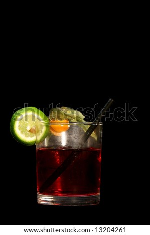 Red Cocktail isolated on black