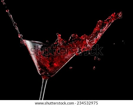 Red cocktail up - stock photo