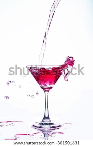 red coctail splash