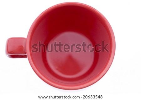 Red Coffee Mug - stock photo