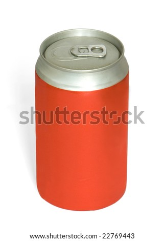Red Cola Can isolated on white(with cliping path)