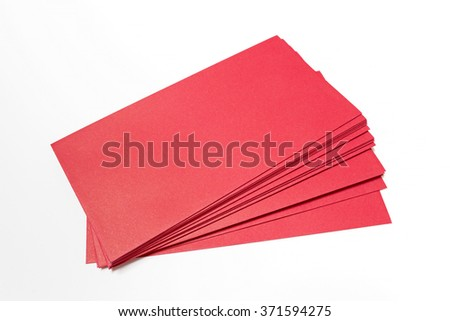 Red color envelopes isolate on white background