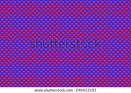 Red color heart shape with blue background - stock photo