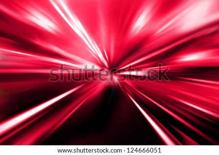 red color night street - stock photo