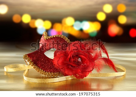 red color of mask  - stock photo