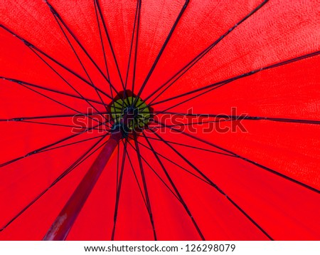 red color umbrella