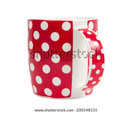 red colorful mug over white
