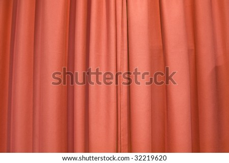red colourful drapes for background - stock photo