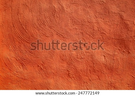 Red concrete as a background - stock photo