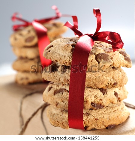 red cookies  - stock photo