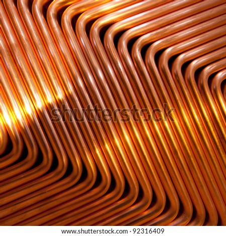 Red copper pattern - stock photo