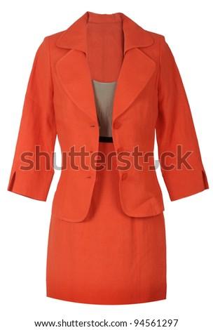 red costume - stock photo