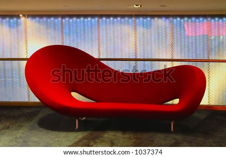 red couch - stock photo