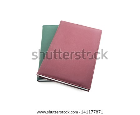 Red cover book isolated on white background