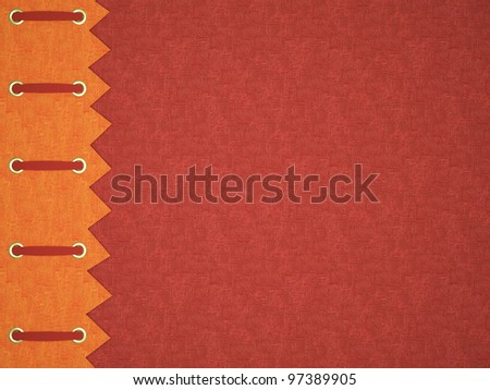 Red cover for an photo album. Beautiful background for scrapbooking. - stock photo