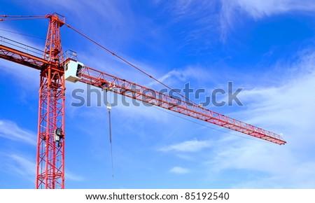 Red crane - stock photo