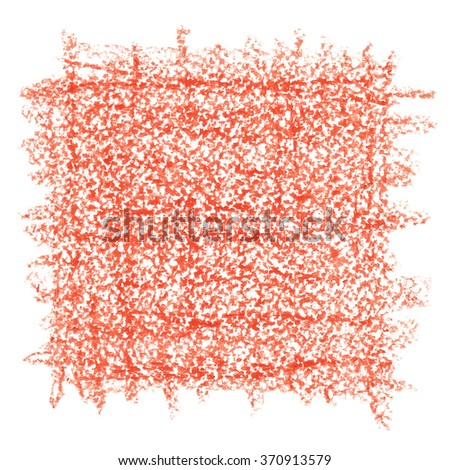 Red crayon drawing texture - abstract background - stock photo