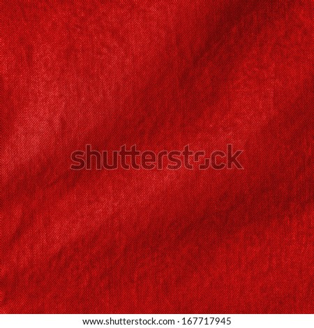 red crumpled fabric texture