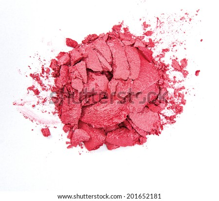 Red Crushed Cosmetic - stock photo