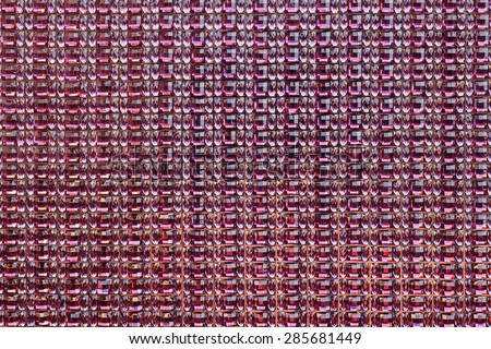 red crystal sequins mosaic pattern,background