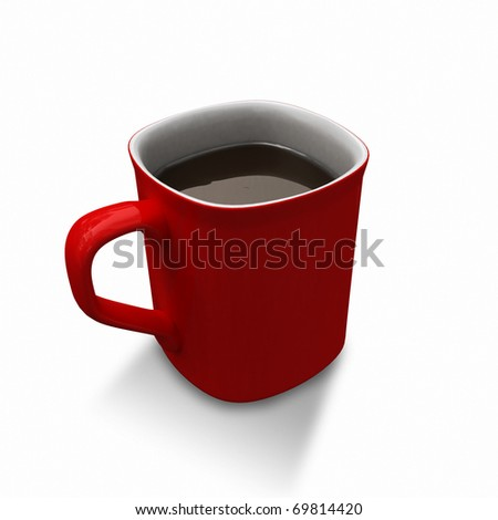 red cup - stock photo