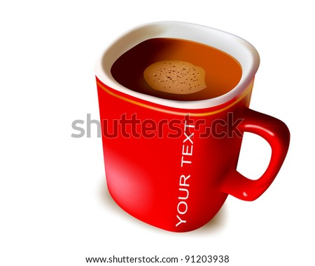 Red cup coffee - stock photo