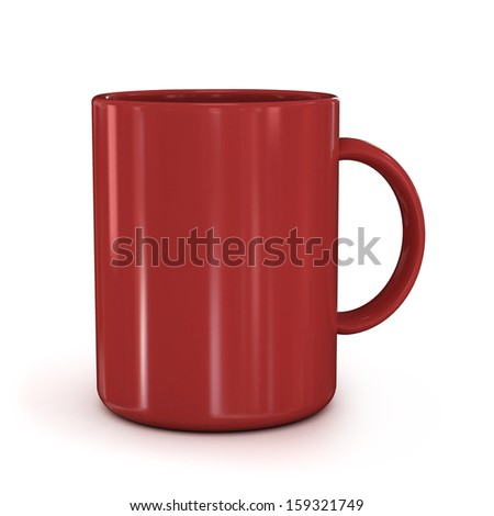 red cup isolated  - stock photo