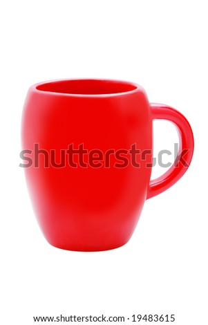 Red cup isolated over white background