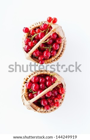 Red Currant in wicker baskets