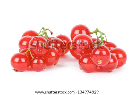Red currant isolated on white - stock photo
