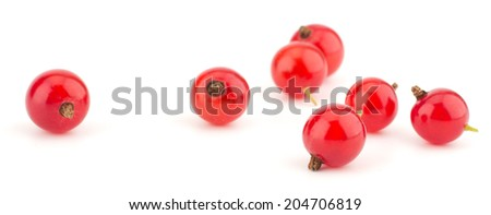 Red currants still life isolated on white background - stock photo