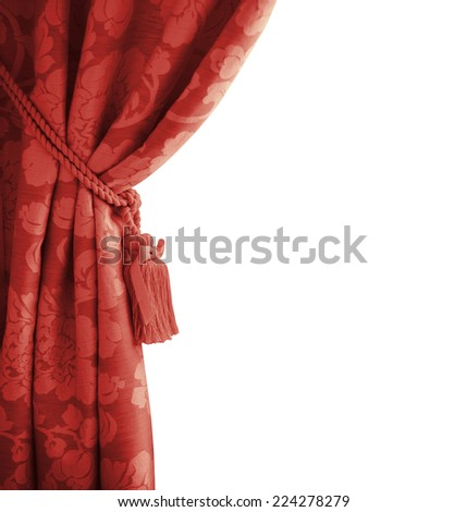 red curtain. - stock photo