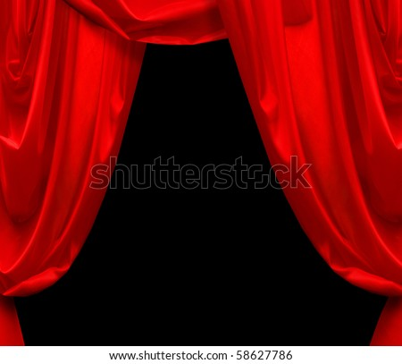 Red curtain - stock photo