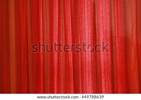 Red curtain fabric background texture