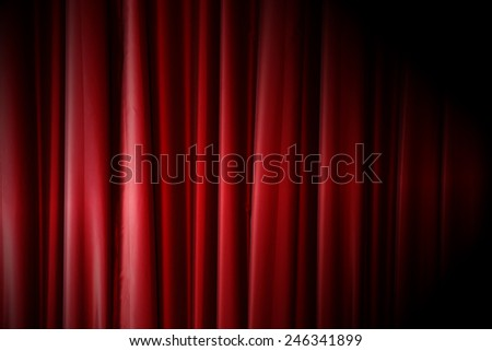 Red curtain pattern