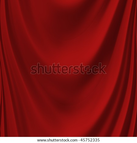 Red curtain seamless - stock photo