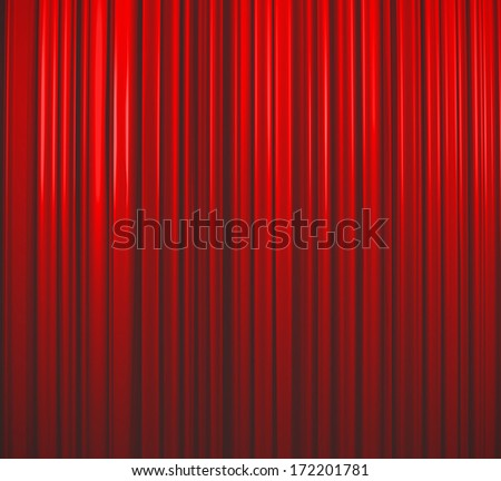 Red Curtain Theater - stock photo