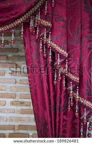 Red curtains - stock photo