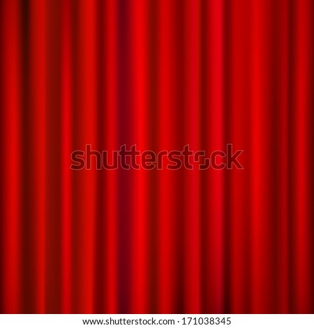 Red curtains  drapery background. For vector version, see my portfolio.