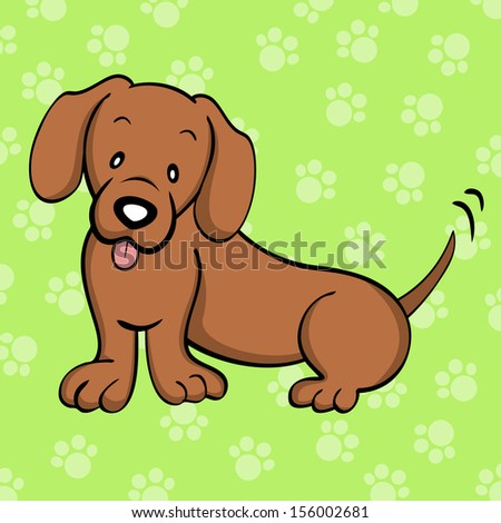 Red Dachshund - stock photo