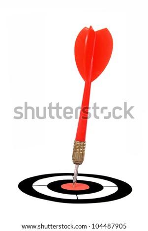 red dart - stock photo