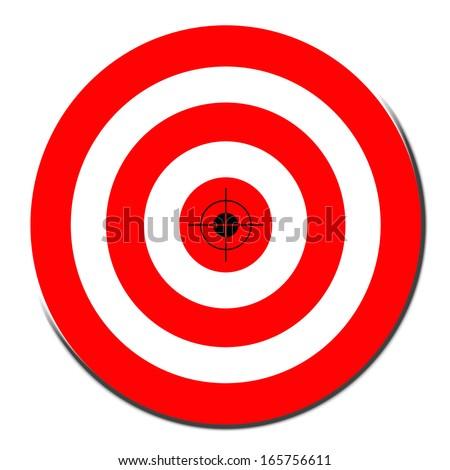 Red darts target symbol - stock photo