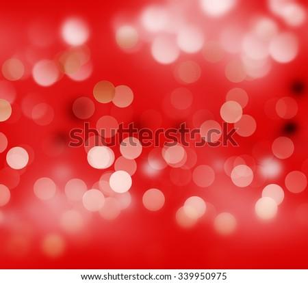 red defocused lights background - stock photo