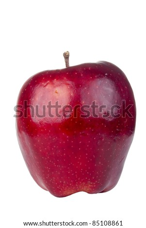 Red delicious apple isolated on a white background. - stock photo