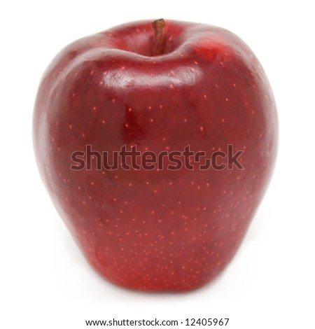 Red Delicious apple isolated on white - stock photo