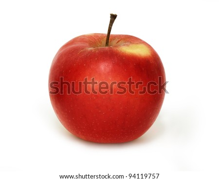 Red Delicious Apple, isolated on white