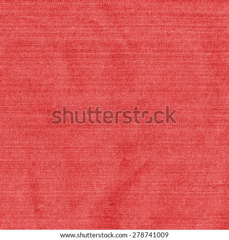 red denim texture. Useful as background - stock photo