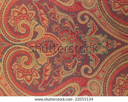 Red designed background cloth - stock photo